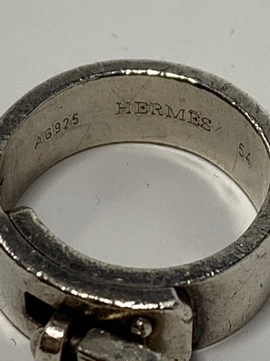 Hermès H Lock Sterling Silver Ring. - New York Authentic Designer - Hermes