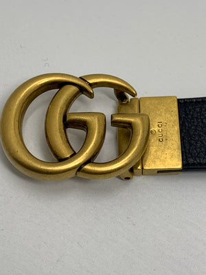 Gucci Reversible Brass Belt! - New York Authentic Designer - Gucci