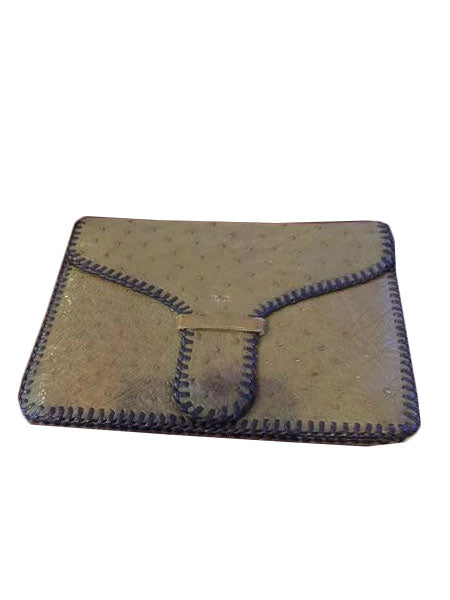 Ostrich Clutch! - New York Authentic Designer - N/A