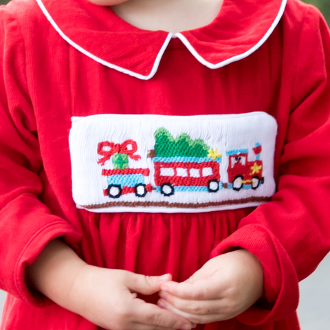 Swap-A-Smock Christmas Train Tab