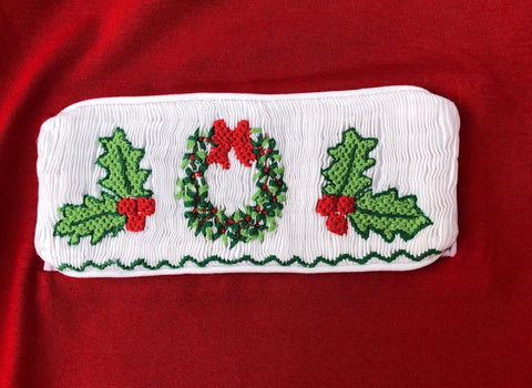 Swap-A-Smock Christmas Wreath and Holly Berries Tab
