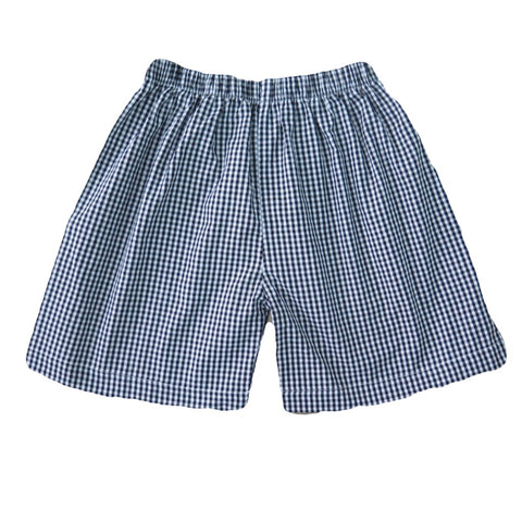 Boys Shorts - Black Gingham