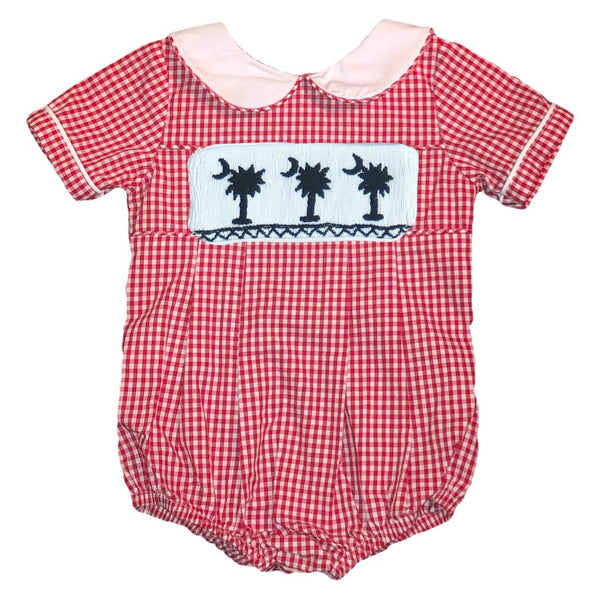 Swap-A-Smock Boys Collared Bubble - Red Gingham