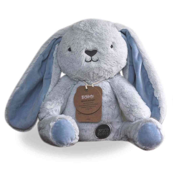 Blue Bunny Stuffed Animal | Plush Toy | Bruce Bunny Huggie ethically made by OB Designs USA