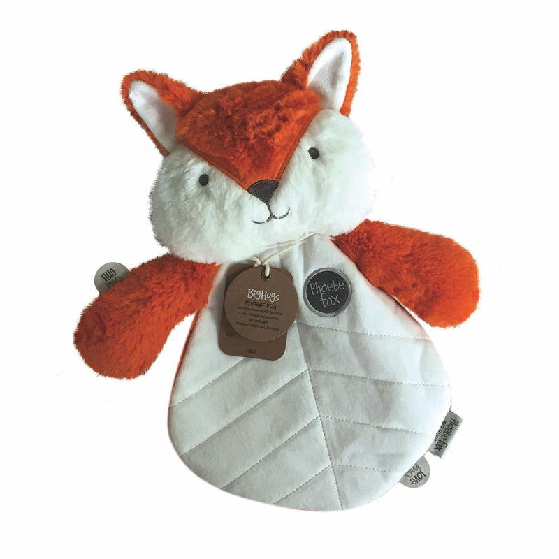 Baby Lovey  | Fox Baby Toy | Phoebe Orange Fox | Ages 0+ ethically made by OB designs USA