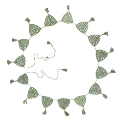 Sage Crochet Bunting Flag | Mid-October Delivery Decor Range O.B. Designs