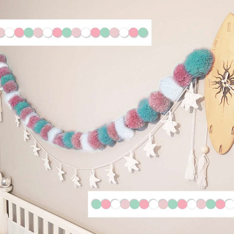 Small Rainbow Pom Pom Garland