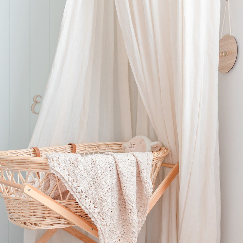 Vanilla Linen Canopy | Boho Luxurious Canopies | Handmade| Mid-October Delivery Decor Range O.B. Designs Baby Toys - Plush Toys - Crochet Blankets Ethically Made