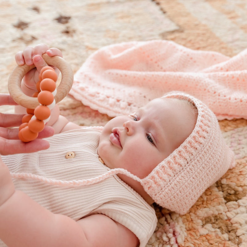 Cinnamon | Eco-Friendly Teether | Organic Beechwood Silicone Toy