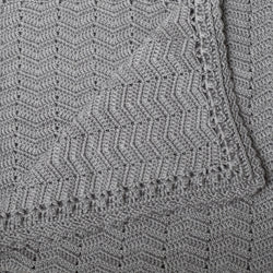 Crochet Baby Blanket | Handmade Grey | OB Designs