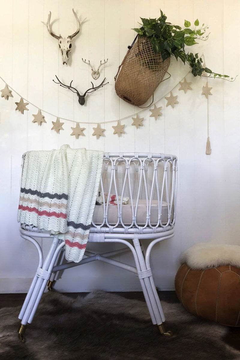 Handmade | Artisan Crocheted | Wall Bunting | Garland | White Starfish