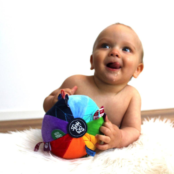 Baby Sensory Ball Rainbow | Soft & Plush Toys Australia