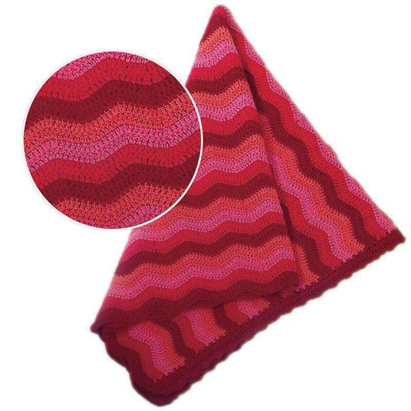 Baby Ripple Blanket Berry - O.B.Designs USA