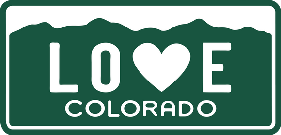 Colorado - CO Love Colorado License Plate Sticker