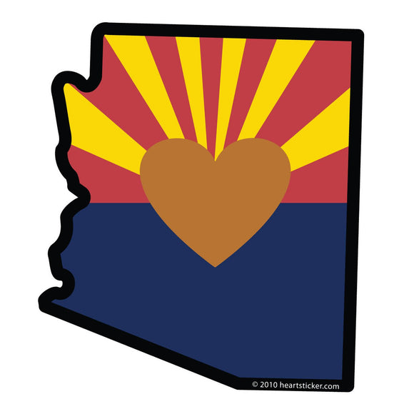 Arizona - Heart in Arizona Back Patches