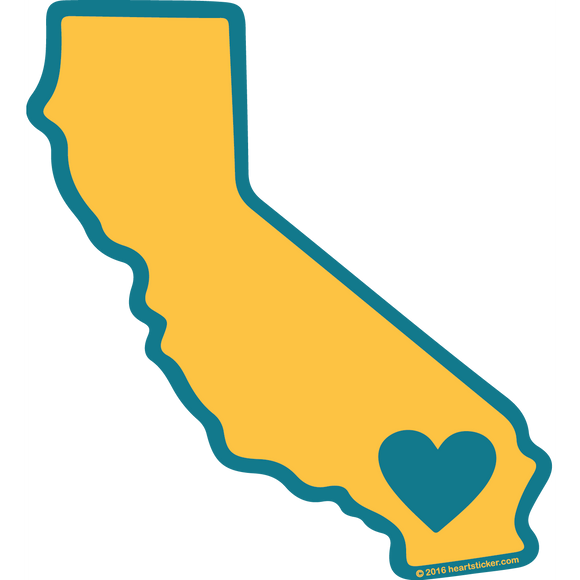 California - Heart in California State (SoCal) Patches