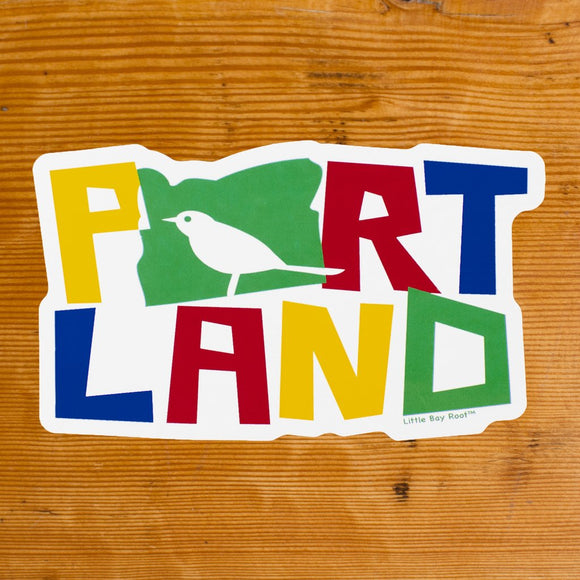 Colorful Bird Portland Sticker