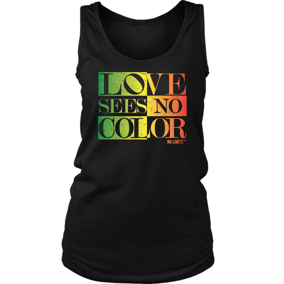 Love Sees No Color Rainbow Distict Women's Tank by No Limits