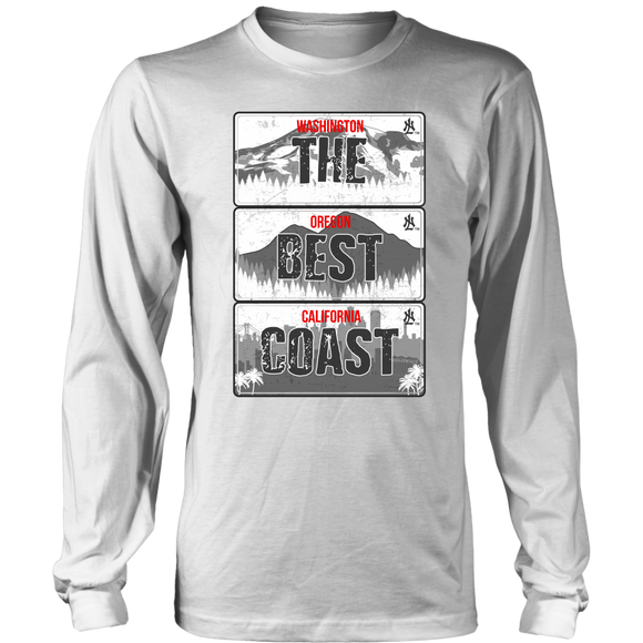 The Best Coast License Plate Long Sleeve by No Limits