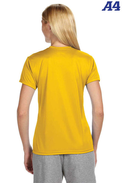 A4 NW3201 Gold Performance Polyester Cooling Short Sleeve Crewneck T-Shirt Back