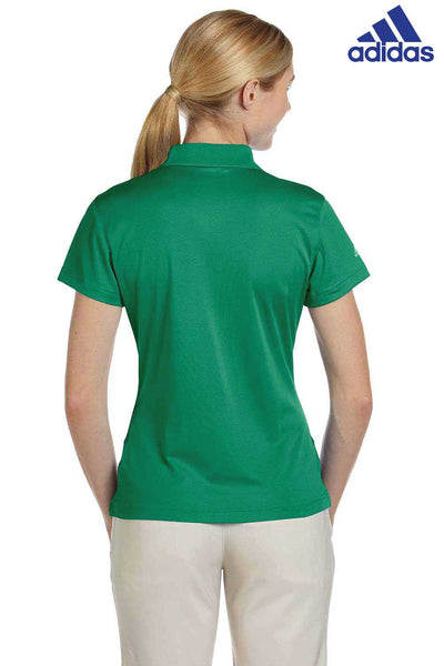Adidas A131 Amazon Green Climalite Polyester Short Sleeve Polo Shirt Back