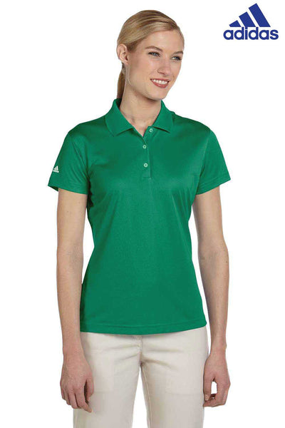 Adidas A131 Amazon Green Climalite Polyester Short Sleeve Polo Shirt Front