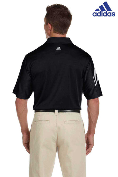 Adidas A133 Black Climacool Polyester Mesh Short Sleeve Polo Shirt Back