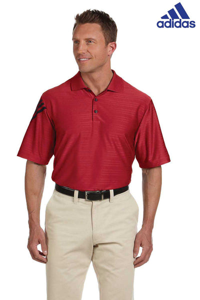 Adidas A133 Red Climacool Polyester Mesh Short Sleeve Polo Shirt Front