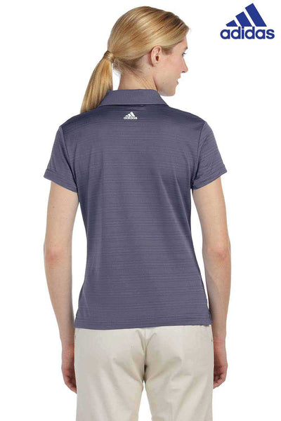 Adidas A162 Ash Grey Climalite Polyester Textured Short Sleeve Polo Shirt Back
