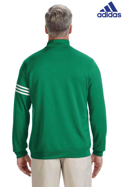 Adidas A190 Kelly Green Climalite Polyester 3 Stripes Sweatshirt Back