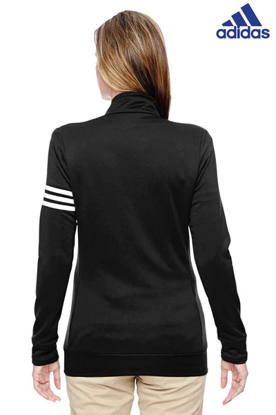 Adidas A191 Black Climalite Polyester 3 Stripes Sweatshirt Back