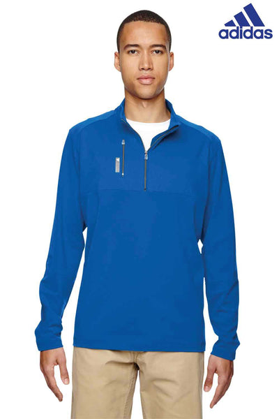 Adidas A195 Royal Blue Puremotion Blend Mixed Media Sweatshirt Front