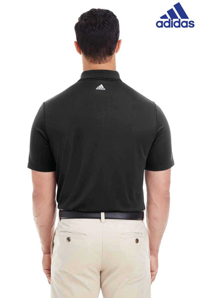 Adidas A233 Black 3 Stripes Climacool Polyester Short Sleeve Polo Shirt Back