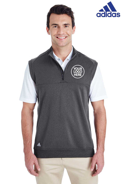 Adidas A271 Heather Black Club Blend Vest Embroidery
