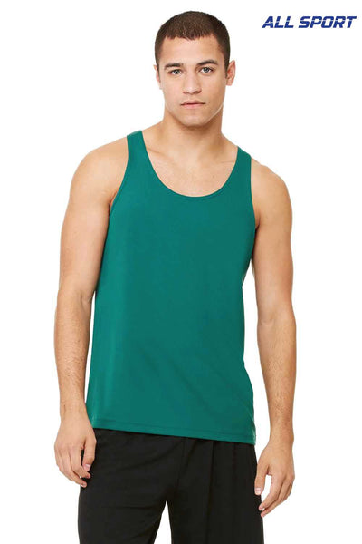 All Sport M2780 Forest Green Polyester Mesh Tank Top Front
