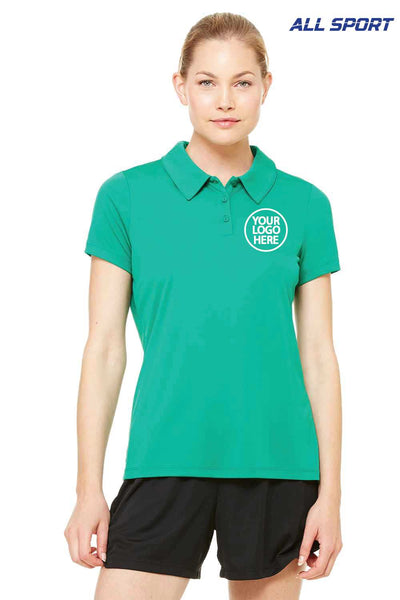 All Sport W1809 Kelly Green  Embroidery