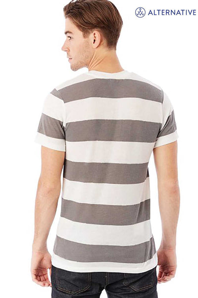 Alternative 01973EA Eco Grey/White Stripe  Back