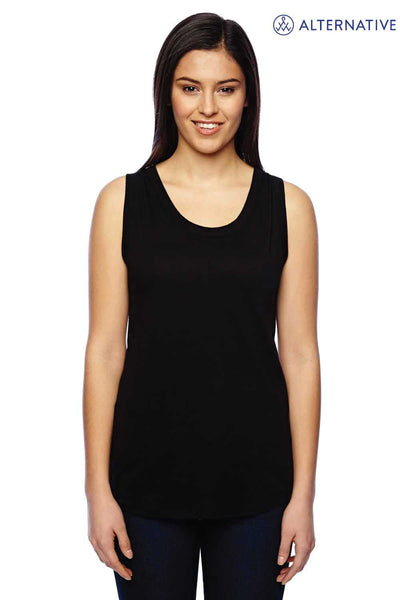 Alternative 02830MR Eco Black Muscle Blend Tank Top Front