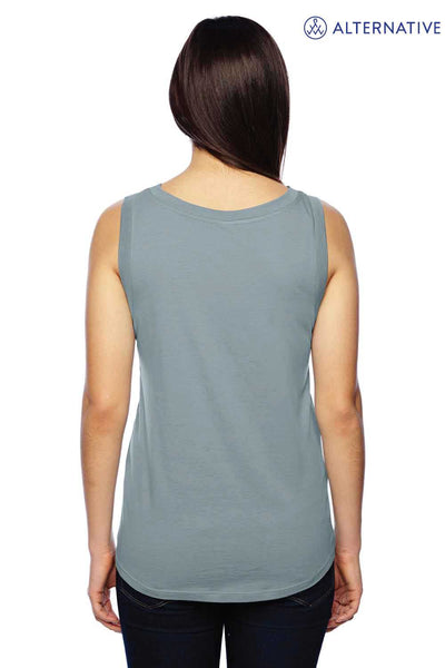 Alternative 02830MR Eco Blue Muscle Blend Tank Top Back