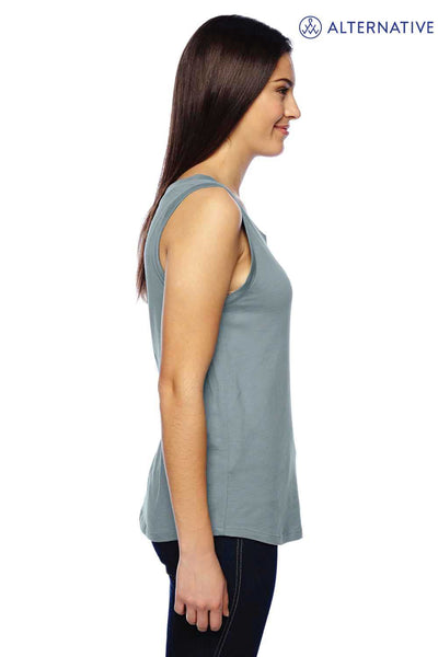 Alternative 02830MR Eco Blue Muscle Blend Tank Top Side