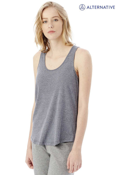 Alternative 05054BP Navy Blue Backstage Vintage Jersey Blend Tank Top Side