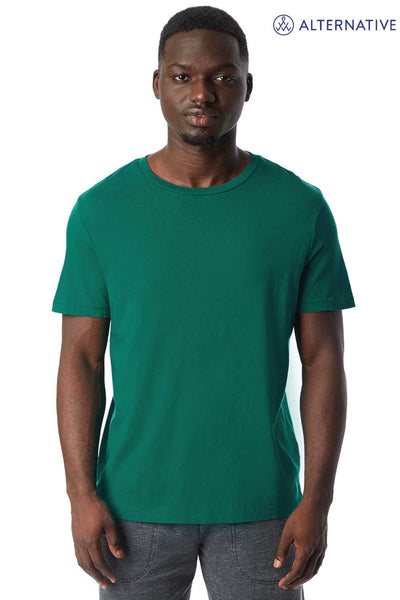 Alternative 1010CG Green Outsider Cotton Short Sleeve Crewneck T-Shirt Front
