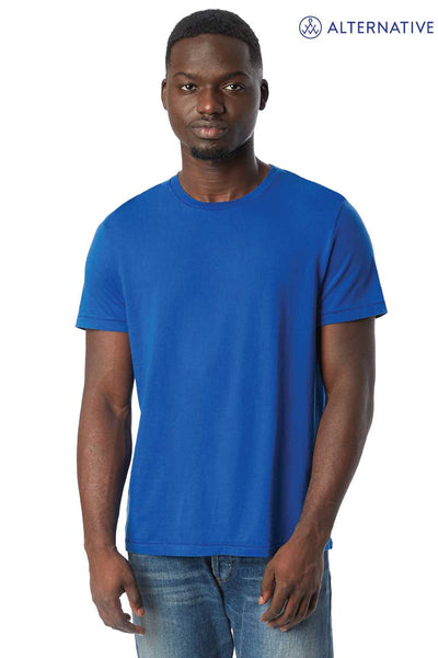 Alternative 1010CG Royal Blue Outsider Cotton Short Sleeve Crewneck T-Shirt Front