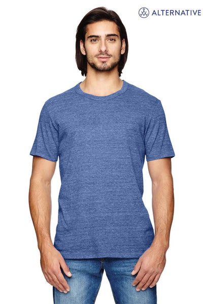 Alternative AA1973 Eco Blue Eco Jersey Triblend Short Sleeve Crewneck T-Shirt Front