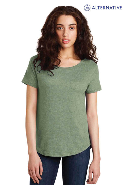 Alternative AA5064 Pine Green Backstage Vintage Blend Short Sleeve Crewneck T-Shirt Front