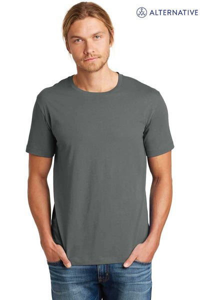 Alternative AA9070 Asphalt Grey Heirloom Cotton Short Sleeve Crewneck T-Shirt Front