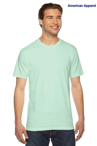 American Apparel 2001 Lime Green USA Made Fine Cotton Jersey Short Sleeve Crewneck T-Shirt Front