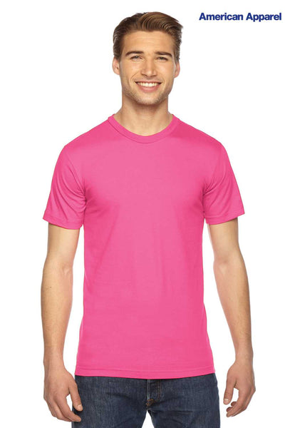 American Apparel 2001W Fuchsia Pink Fine Cotton Jersey Short Sleeve Crewneck T-Shirt Front