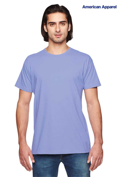 American Apparel 2011W Beni Imo Purple Power Washed Cotton Short Sleeve Crewneck T-Shirt Front
