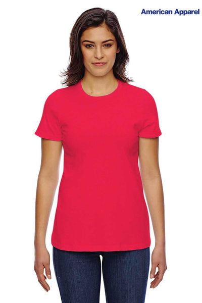 American Apparel 23215 Red USA Made Fine Jersey Cotton Short Sleeve Crewneck T-Shirt Front